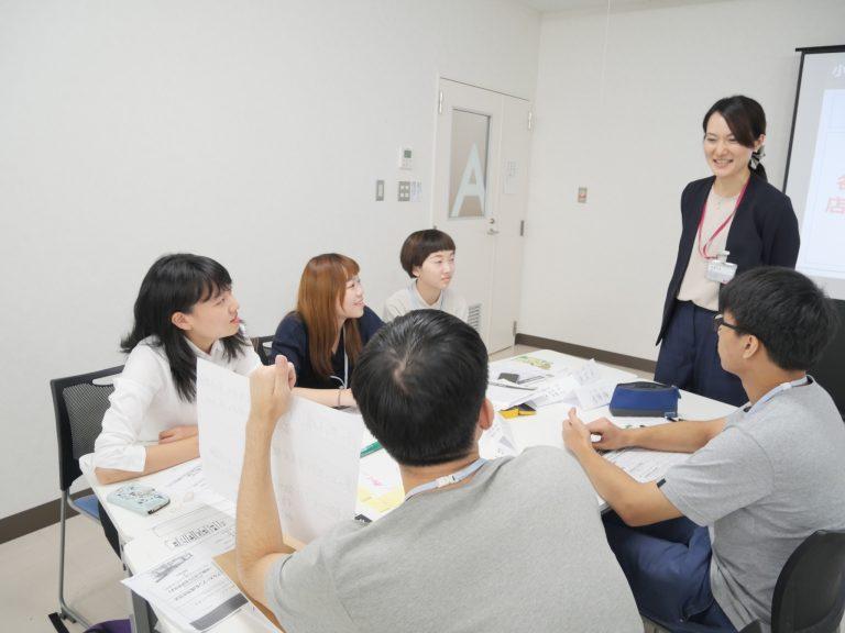 體驗向課長提出企畫案,學習口頭報告